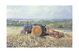 Harvesting Tractor, 1995 Giclee Print by Martin Decent