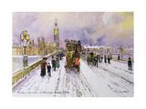 Westminster Bridge under Snow Giclee Print by John Sutton