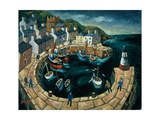 Brittany Harbour Giclee Print by William Cooper