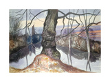 Wintry Evening, a Pond Giclee Print by John Northcote Nash