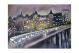 Hungerford Bridge, from the South Bank, 1995 Giclee Print by Sophia Elliot