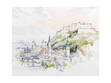 Salzburg Sunrise Giclee Print by Clive Metcalfe