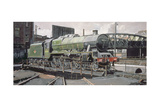 Jubilee Turnaround, Hawke 45652 Jubilee Class Locomotive on Camden Turntable, London Giclee Print by Kevin Parrish