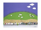 Sheep and Clouds Giclee Print by Micaela Antohi