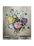 Rhododendrons, Azaleas and Columbine in a Glass Vase Giclee Print by Albert Williams