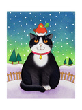 Cat with Robin Giclee Print by Cathy Baxter