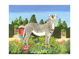Zebra in a Garden, 1977 Giclee Print by Anthony Southcombe