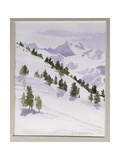 Winter Trees, Haute Nandez, Switzerland, 1989 Giclee Print by Sarah Butterfield