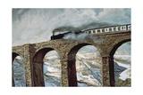 Arten Gill Viaduct (Detail) Giclee Print by John Cooke
