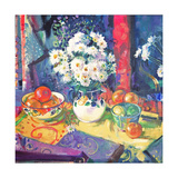 Flowers and Fruit in a Green Bowl, 1997 Lámina giclée por Peter Graham