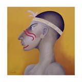 Native Americans Series, No. 1, 1998 Giclee Print by John Wright