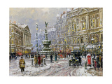 Piccadilly Circus Giclee Print by John Sutton