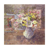 Flowers on the Christmas Table, 1992 Giclee Print by Diana Armfield