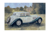 The Green and White Bentley at Althorp Giclee Print by Peter Miller