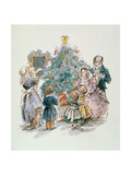A Dickensian Christmas: The Tree Giclee Print by Carol Walklin