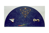 Lunetta Con Constellazioni Giclee Print by Lucio Del Pezzo