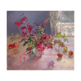 Honeysuckle and Berries, 1993 Giclee Print by Timothy Easton