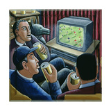 Armchair Supporters Giclee-trykk av P.J. Crook
