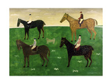 Horses and Jockeys Giclee Print by George Fredericks