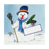 The Snowman Giclee Print by Christian Kaempf