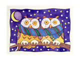 Owls by Night Giclee Print by Cathy Baxter