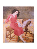 Girl Sewing, 1991 Giclee Print by Patricia O'Brien
