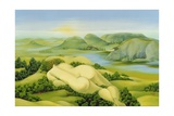 The Legend of Balaton, 2003 Giclee Print by Magdolna Ban