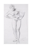 Standing Male Nude Giclee Print by Augustus Edwin John