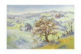 From Udimore Towards Peasmarch, Sussex, in Winter Giclee Print by Anne Durham