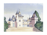 Chateau a Fontaine, 1995 Giclee Print by David Herbert