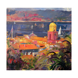 St Tropez Sailing, 2002 Giclee Print by Peter Graham