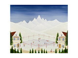 Skating in St. Moritz Giclee Print by Mark Baring