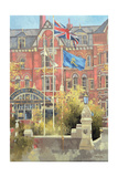 Flags Outside the Prince of Wales, Southport, 1991 Giclee Print by Peter Miller