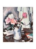 Pink Roses Giclee Print by Samuel John Peploe
