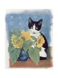 Chess and Sunflowers Giclee Print by Anne Robinson