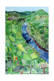 River Agung, Bali, 1996 Giclee Print by Hilary Simon