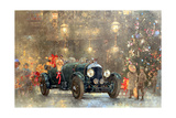 Christmas Bentley Giclee Print by Peter Miller