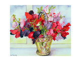 Sweet Peas in a Vase Giclee Print by Joan Thewsey