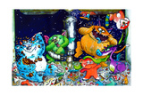 Monsters under the Sink Giclee Print by Maylee Christie