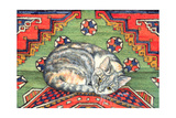 Third Carpet-Cat-Patch Giclee Print by  Ditz