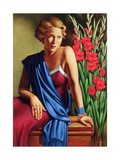 Girl with the Scarab Ring Giclee Print by Catherine Abel