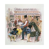 A Dickensian Christmas: the Christmas Dinner Giclee Print by Carol Walklin