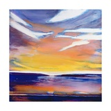 Evening Seascape Giclee Print by Lou Gibbs
