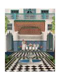 A Riad in Marrakech, 1992 Giclée-tryk af Larry Smart