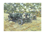 1929 Le Mans Winning Bentleys Giclee Print by Clive Metcalfe