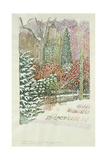 Front Garden in Heavy Snowstorm Giclee Print by Lillian Delevoryas