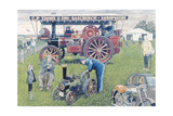 Traction Engines at the Show, 1993 Giclee Print by Huw S. Parsons