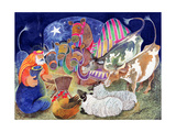 The Nativity Giclee Print by Lisa Graa Jensen