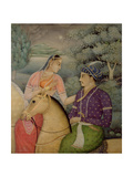 A Couple on Horseback Beside a Moonlit Lake Gicleetryck av Mark Briscoe