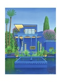 Majorelle Gardens, Marrakech, 1996 Giclee Print by Larry Smart